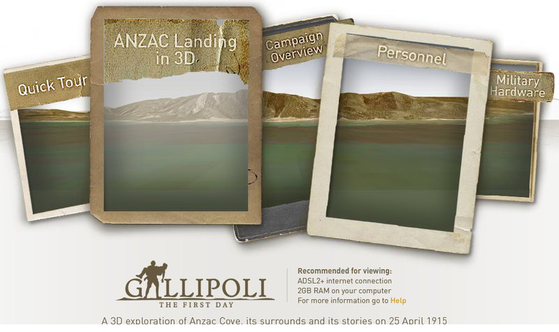 Gallipoli site screen capture